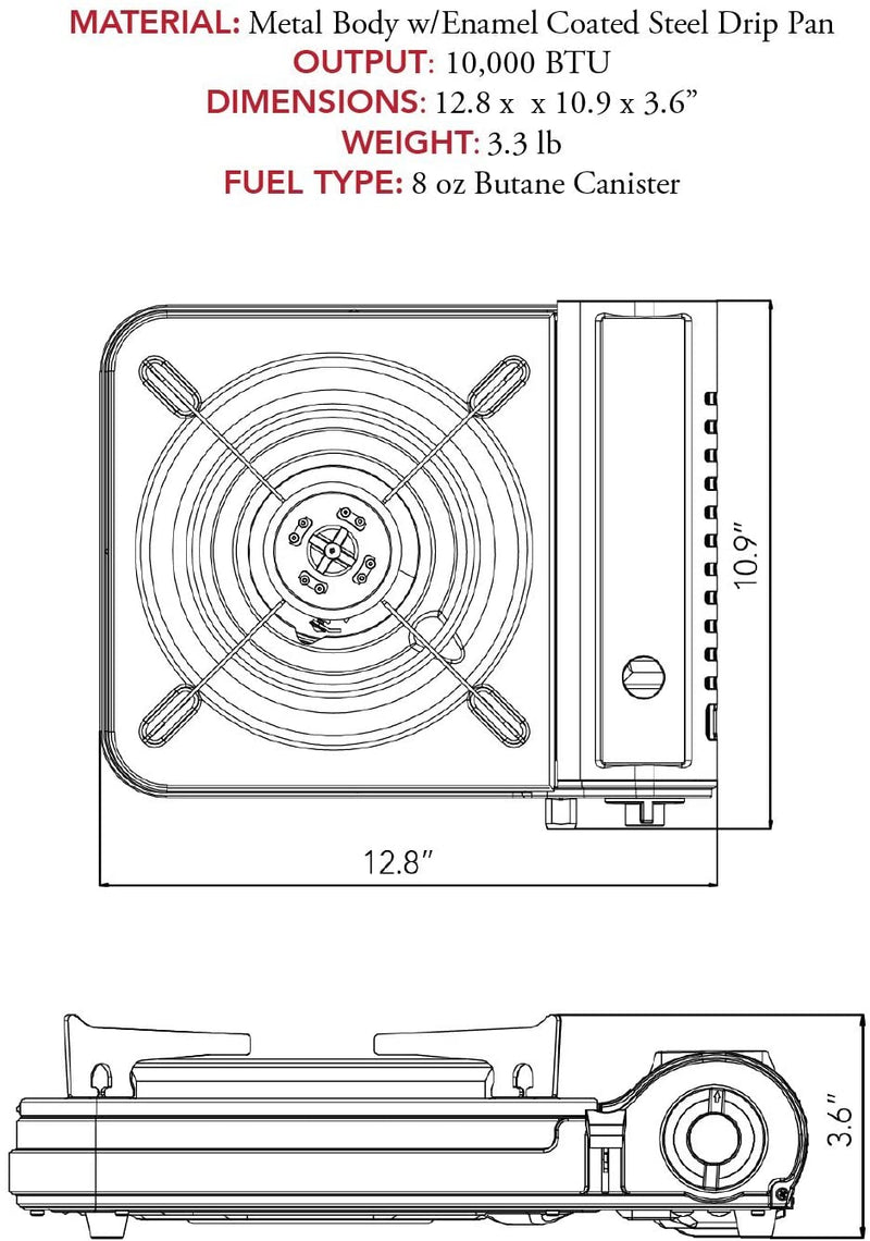 New Portable Butane Gas Stove