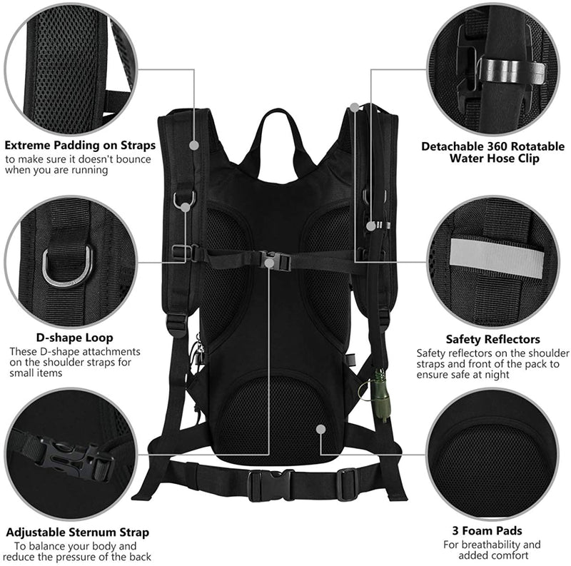 Tactical Hydration Pack Backpack