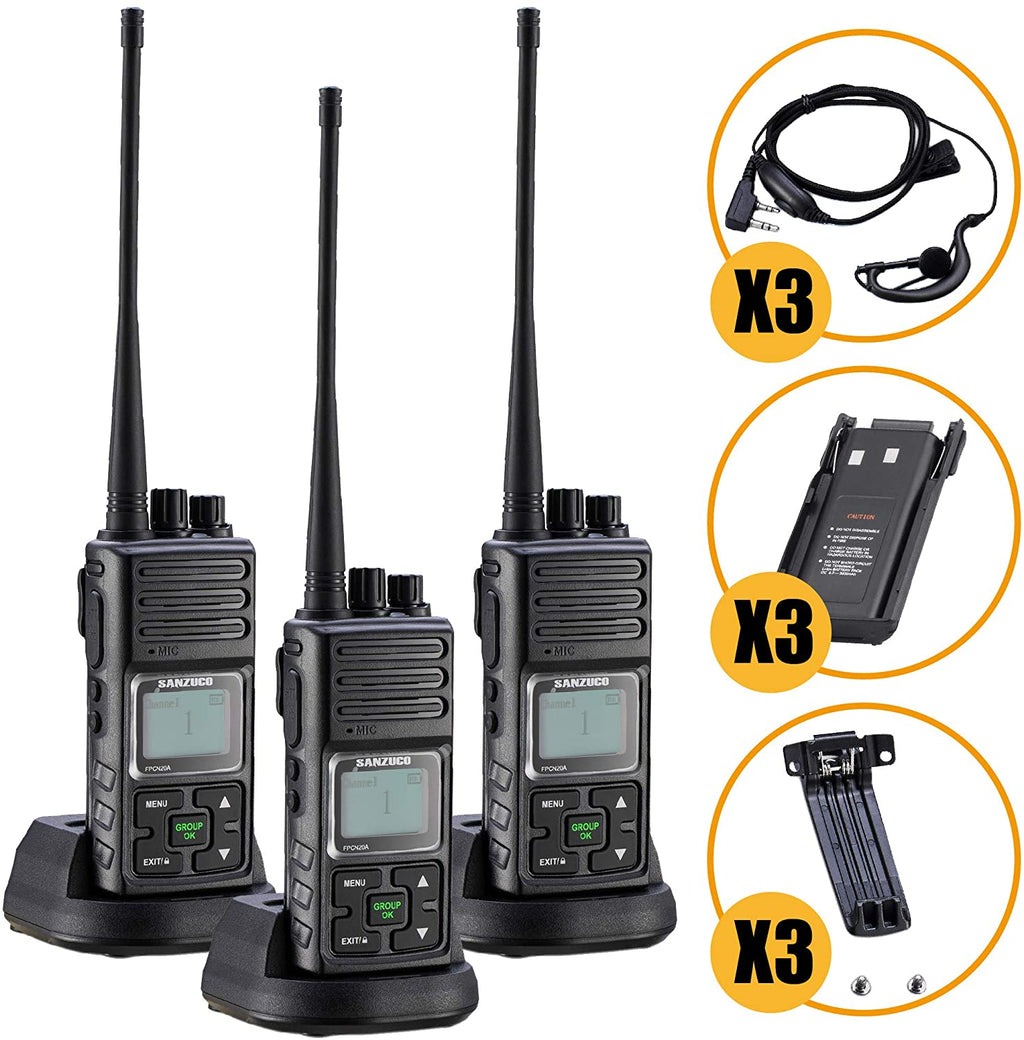 Long Range Rechargeable Two-Way Radio