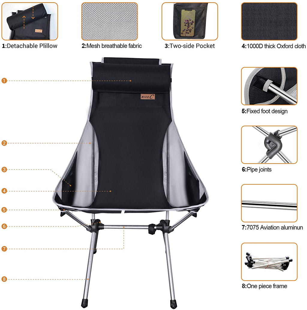 Ultralight High Back Folding Camping Chair