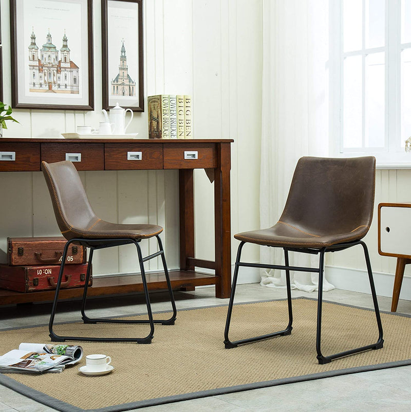Vintage PU Leather Dining Chairs