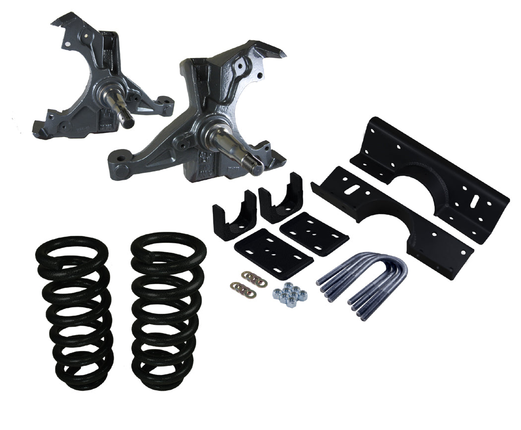 1988-98 Chevy-GMC C1500 Extended Cab Deluxe Lowering Kit - 4