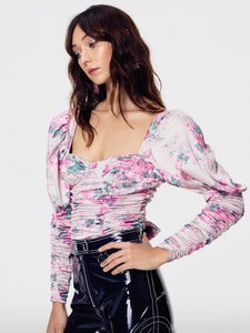 For Love & Lemons Palais Floral Crop Top