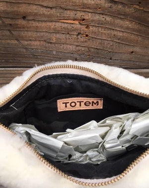 Totem Salvaged Shearling Sling Bag