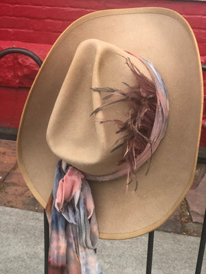 Vintage beaver one of a kind frontier hats