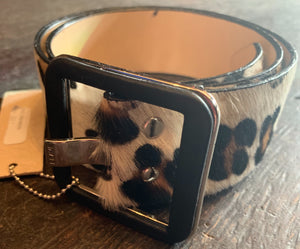 Leopard Leather Belt