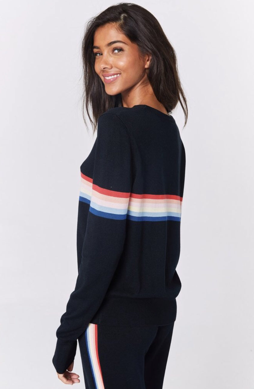 Spiritual Gangster Rainbow Stripe Sweater
