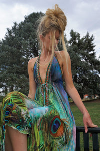 Feathers of paradise dress