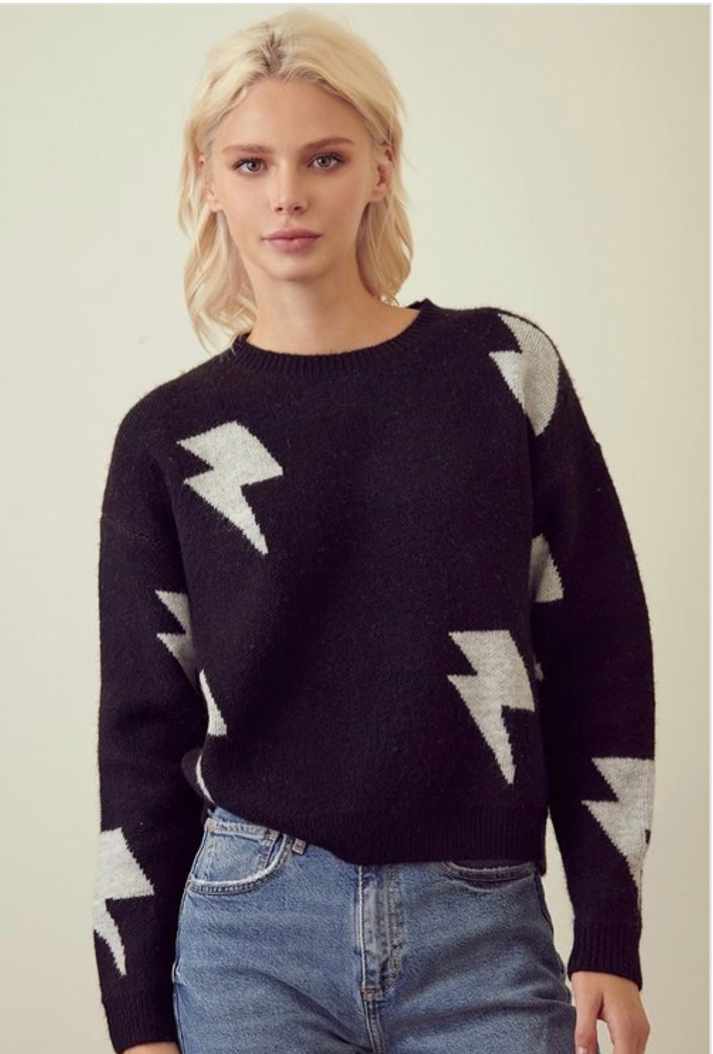 Lightning  Strikes Pullover Sweater