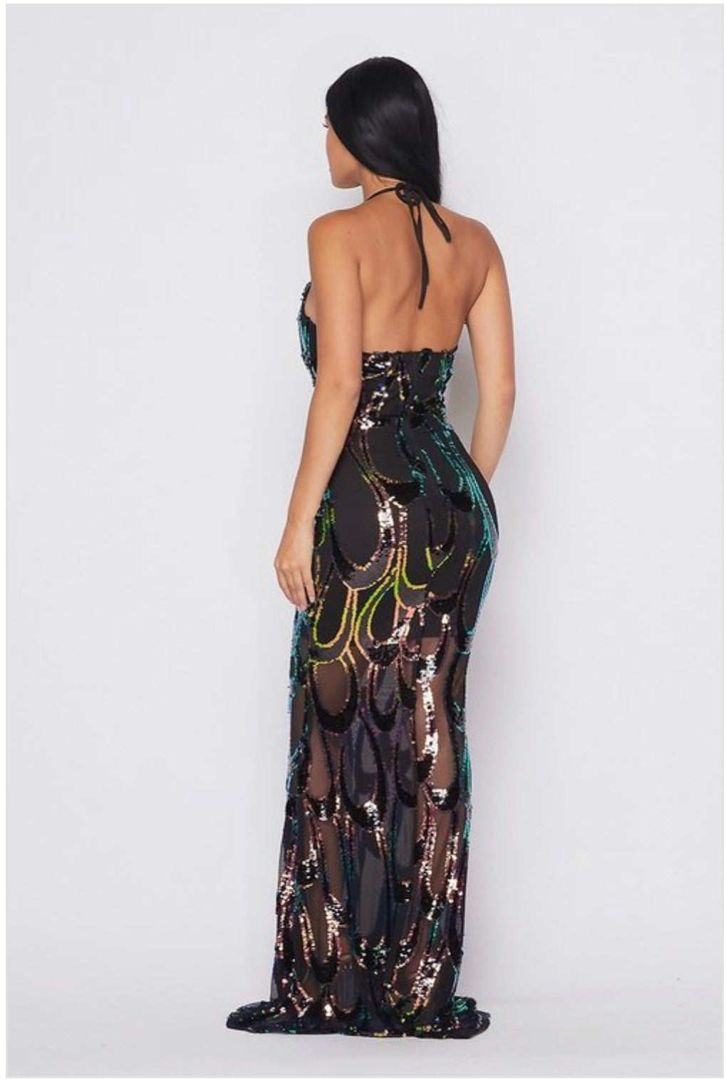 Mermaid Dreams Halter Dress