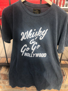 Retro Brand Whisky a go go t shirt