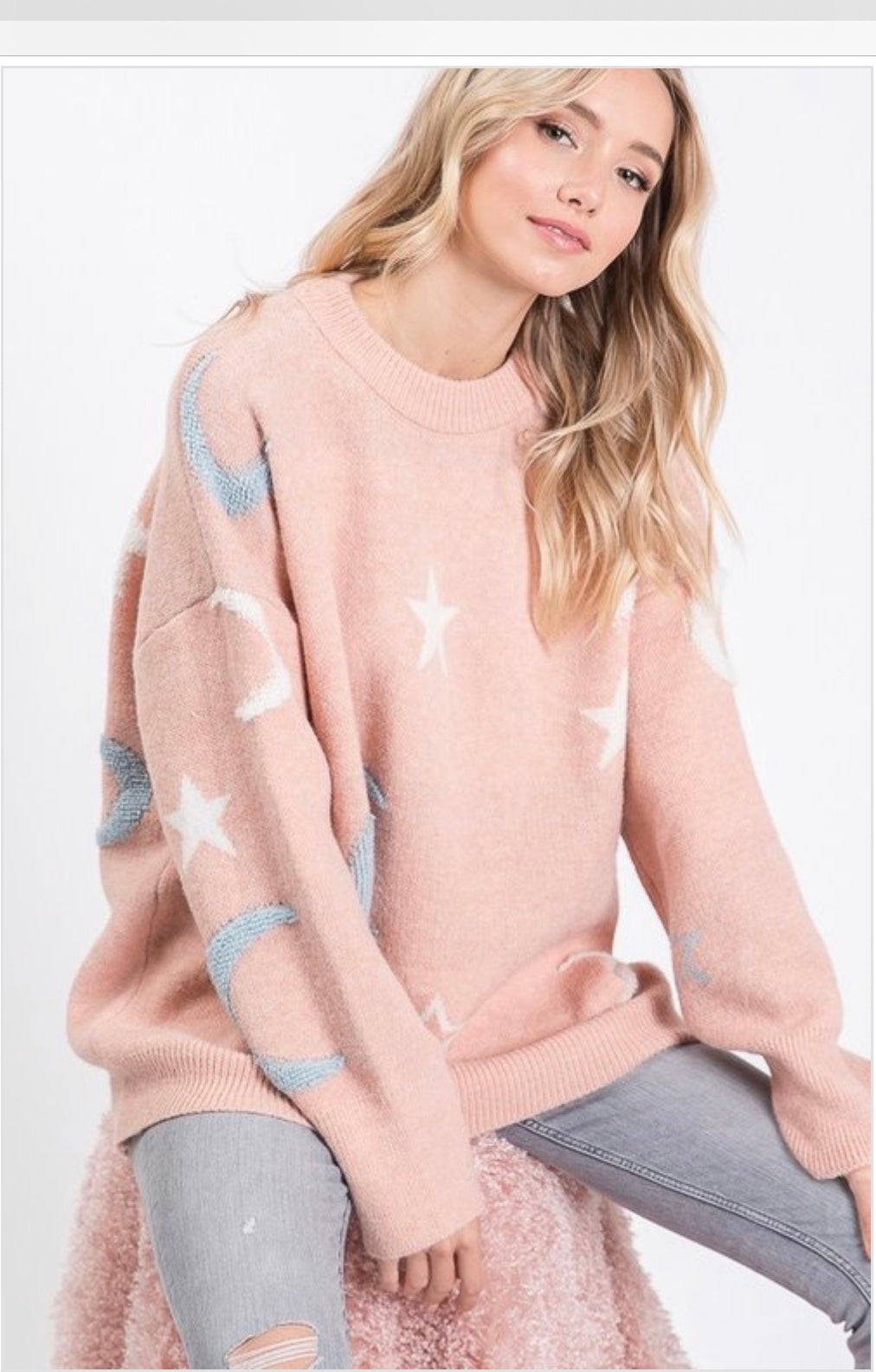 Moon Dreams Boyfriend Pullover