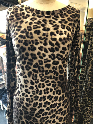 Edens 6th day animal print fishtail dress