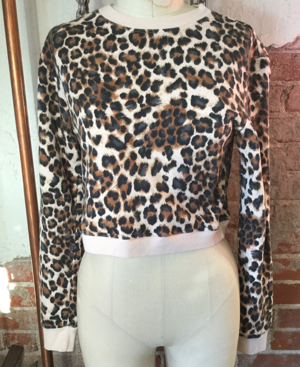 Hard Tail Leopard Crop Sweatshirt