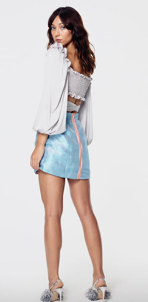 For Love & Lemons Argent Wrap Blouse