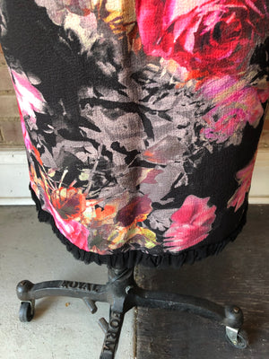 Edens 6th day floral pencil skirt