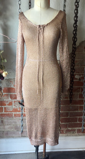 Starlette Rose Gold Dress