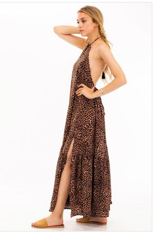 Purrfect halter dress
