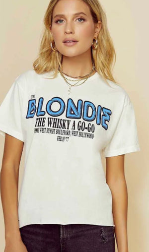 Blondie Whiskey a go go t shirt