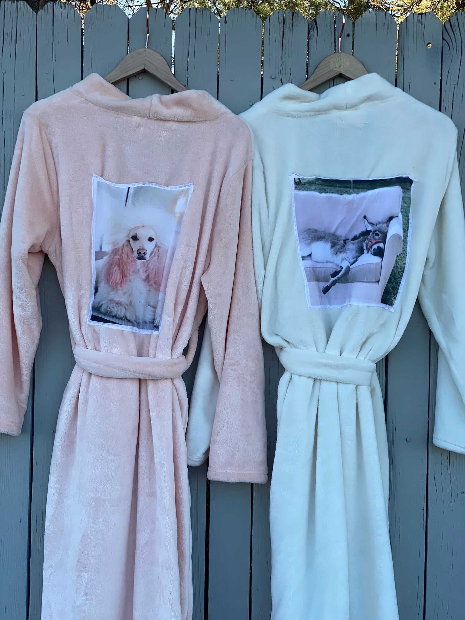 Pink Dream Poodle Robe