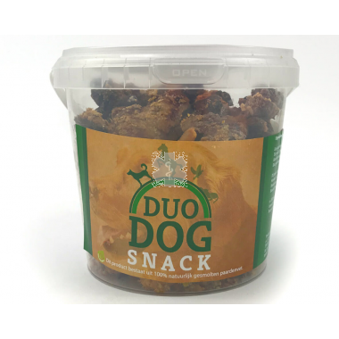 Duo Dog Snack (krokant paardenvet)