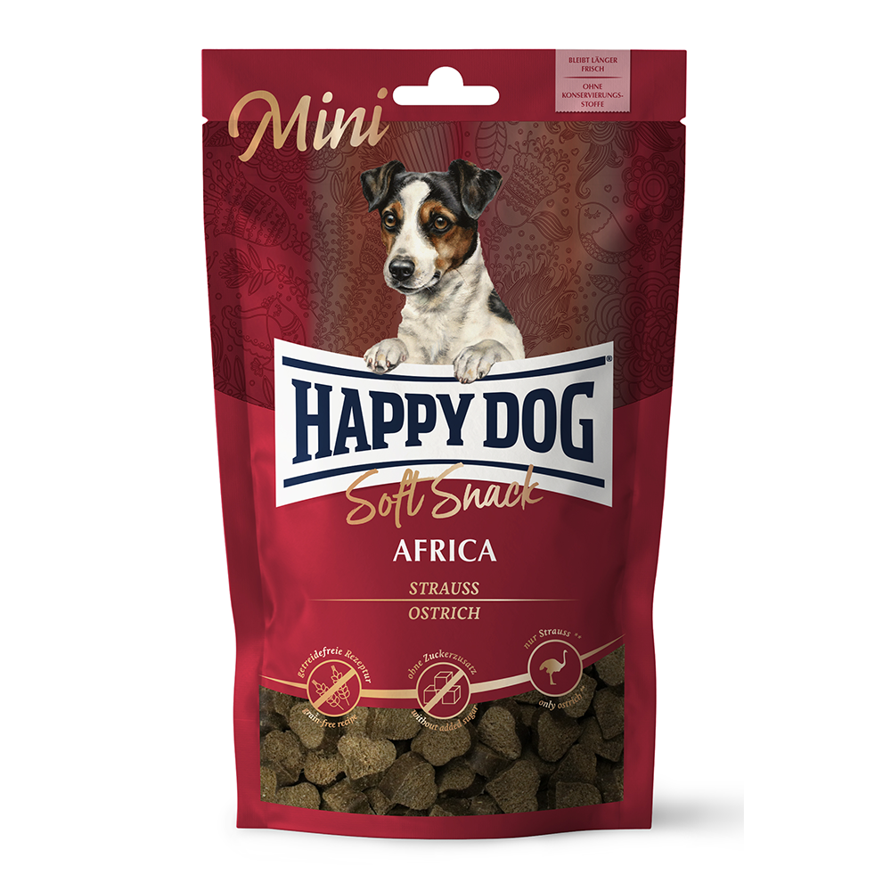 Happy Dog - Africa Struisvogel soft snack mini