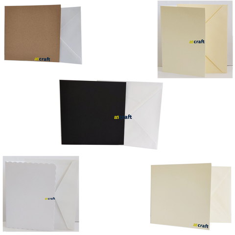 Blank Cards & Envelopes Ideal for Card Making and Wedding Stationery
