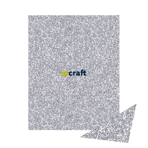 A4 Luxury Silver Fixed Glitter card 250gsm-Pack 20 for Card Making and Craft