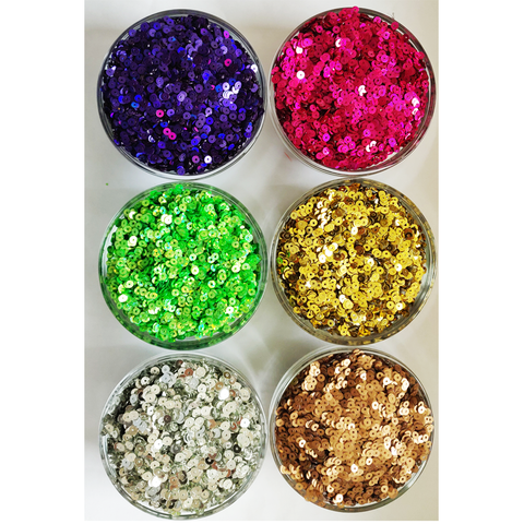 5g Metallic 4mm Round Loose sew on Sequins Clothes Wedding DIY Craft