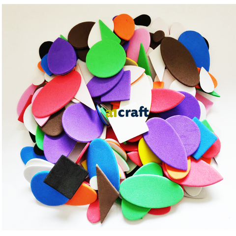 Self Adhesive Assorted Foam Shapes for Children Craft in Different Pack Size