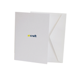 C6 White Blank Cards & Envelopes-Pack 25