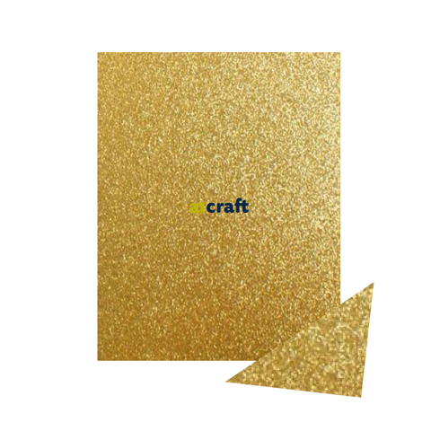 A3 Gold Fixed Glitter Card 250gsm-Pack 5 for Card Making and Craft