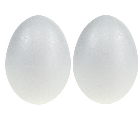 Easter Craft Polystyrene Styrofoam 15CM 2 Half Balls Eggs-Pack 2