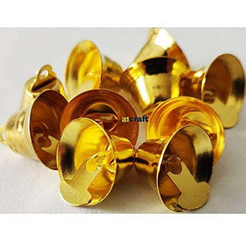 15MM Gold Christmas Craft Liberty Bell-Pack of 10