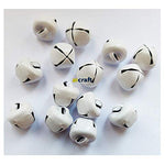 Christmas Craft 20mm White Jingle Bell-Pack of 10