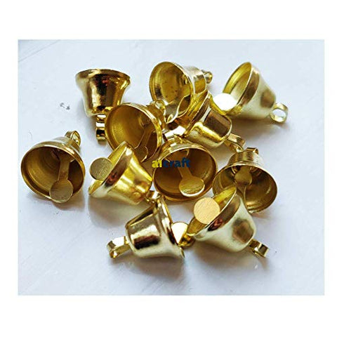 14mm Gold Colour Christmas Liberty Bell-Craft Bells-Pack 25