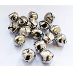 10mm Christmas Craft Silver Jingle Bell-Pack 25
