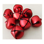 25mm Matt Red Jingle Bell for Christmas Craft Bells-Pack of 8