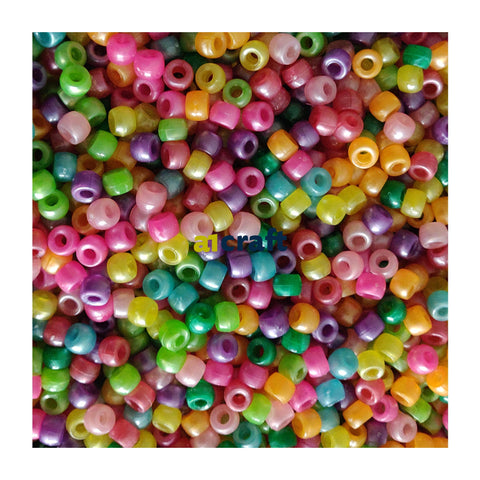 Assorted Multi Coloured Pearl Pony Beads
