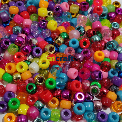 Mixed Pony Beads for Jewellery Making and Craft