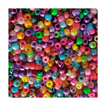Assorted  Metallic/Pearlized/Neon/Bright And Clear Pony Beads