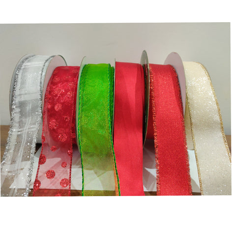 Kirkland Wire Edged Ribbon for Christmas and Wedding Craft