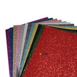 A4 Sparkly Christmas Assorted Glitter Felt-Pack Of 10