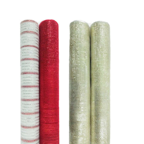 Christmas Tree and Wedding Decorative Mesh Ribbon x 2 Pack
