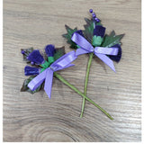 Scottish Purple Thistle - Buttonholes for Wedding Craft