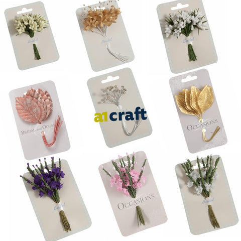 Artificial Bridal Spray and Flowers for Wedding Craft
