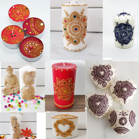 Decorative Candles for Wedding Favour, Christmas ,Eid ,Diwali Decoration-Single