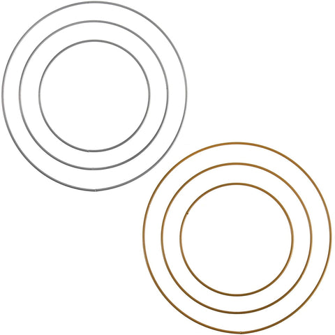 Metal Craft Hoops - Gold and Silver