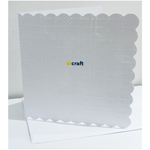 6x6 Tartan Embossed White Cards & envelopes-Pack 50
