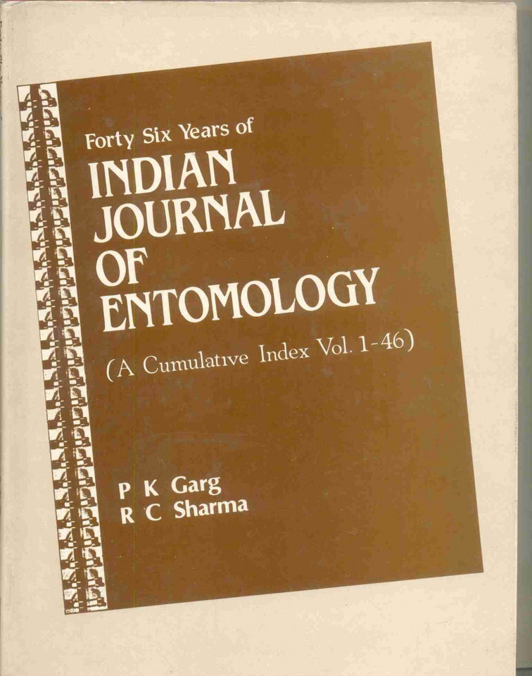 Forty-Six Years Of Indian Journal Of Entomology: A Cumulative Index (Vol. 1-46, 1939-84)